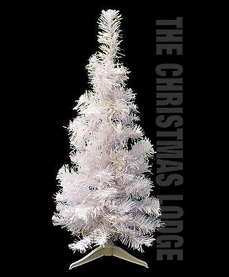 WHITE PRE-LIT ARTIFICIAL CHRISTMAS TREE with IRIDESCENT ACCENTS!