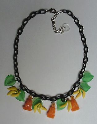 No Evil Monkey necklace with 1980`s see hear speak monkey Gumball Charms