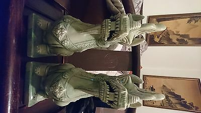 Antique Chinese Dragon's jade green glaze