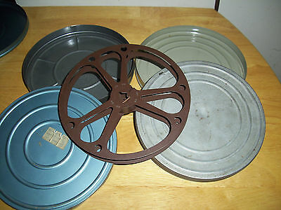 Lot Of 2 Vintage 16 Mm Movie Reel Cases & 1 Reel - Chicago Ill