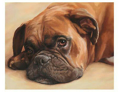 artav Boxer 09 Dog Pet Art Print on Watercolor Paper