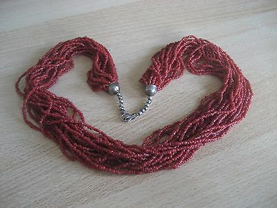 Alte rote Korallenkette, old red Coral Necklace, 132 Gramm