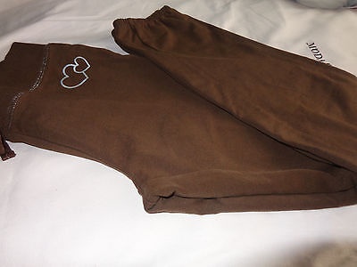 EUC The Children's Place Girls Sweatpants, size 8 BROWN CUTE