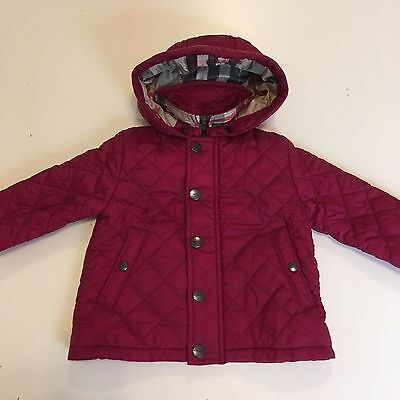 Burberry Quilted Baby Jacket Size 6 Months