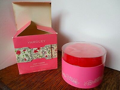 Vintage YARDLEY Red Roses Dusting Powder w/Original Box 5 Ounce NEW OLD STOCK!
