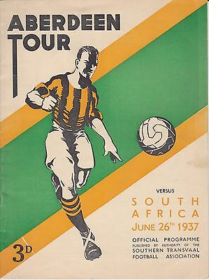 Aberdeen v South Africa 26 Jun 1937