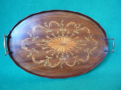 Edwardian Inlaid serving tray