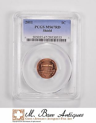 MS67RD 2011 Lincoln Shield Cent - Graded PCGS *5510