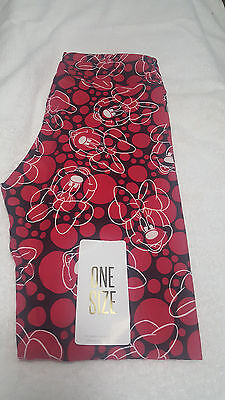 Lularoe Disney Collection Leggings OS -NWT- Minnie Mouse Pattern Pink