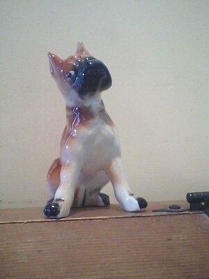 Porcelain Boxer dog figurine