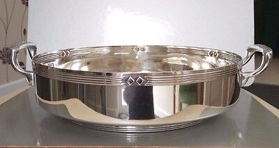 Art Deco W.M.F. Silver Plate Double Handled Serving Dish Holder, Base or Stand