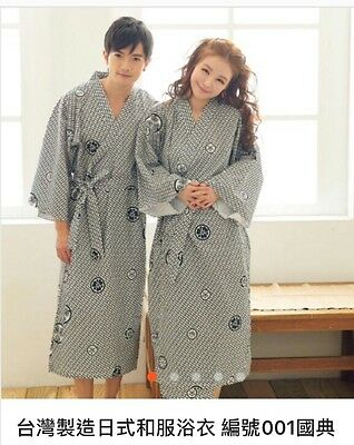 Women Asian Art Kimono Yukata Cotton Japanese Bathrobe Robe Gown Sleepwear 48""