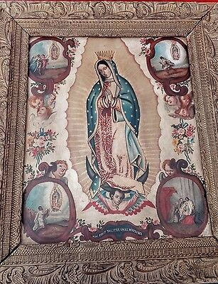 México, Painting of the Virgin of Guadalupe Mexican, oil on Copper sheet