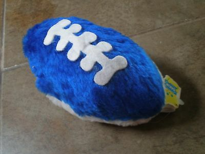 Vintage 1980 Dakin Stuffed Plush Football Rattle New with tags NOS  RARE