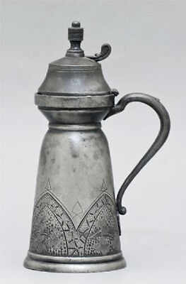 """Antique English 19C ~1870 Aesthetic Movement Ornamented Jug Derby Silver Co. H8"""""""
