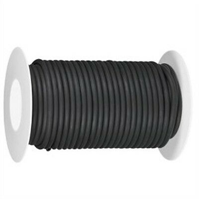"""50 Continuous feet 5/16"""" i.d x 1/16"""" wall  latex rubber tubing black"""
