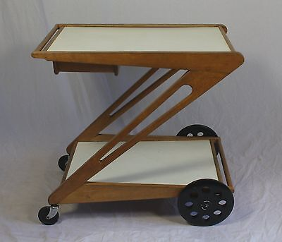 Scarce Dutch 1950s serving cart by Cees Braakman for UMS Pastoe, Netherlands