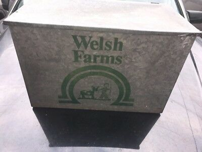 Vintage Welsh Farms Dairy  Milk Bottle Box  Free Shipping