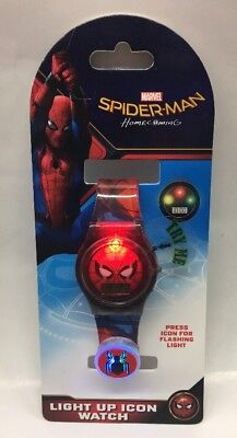 Marvel Spider-man Homecoming Boys Light Up Icon Watch