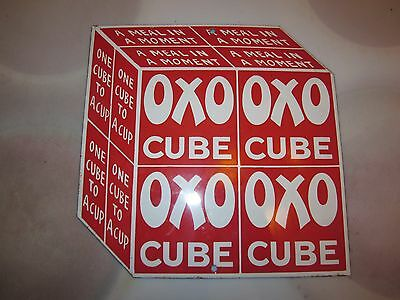OXO Cube sign heavy Porcelain CLEAN