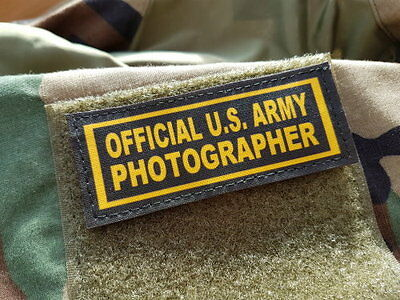 """Snake Patch - SCRATCH - """" OFFICIAL US ARMY PHOTOGRAPHER """" ww2 scratch PHOTO"""