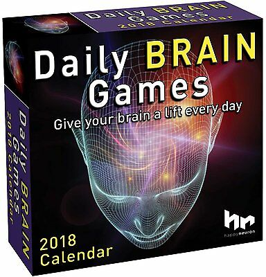 Daily Brain Games - 2018 Daily Desk Calendar - Brand New - Puzzles 482329
