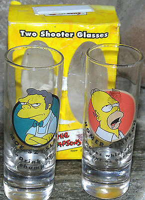 The Simpsons 2 Shot Shooter Glass Set in Box - 2000