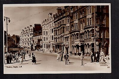 Douglas - Broadway - real photographic postcard