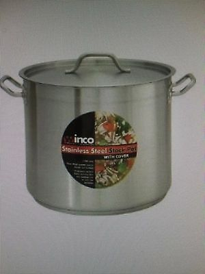 Winco  (SST-12) - 12 Qt Induction Ready Stainless Steel Stock Pot