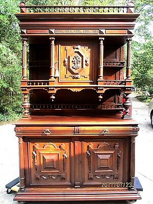 Beautiful Antique French Renassissance Hand Carved Sideboard/Buffet Walnut