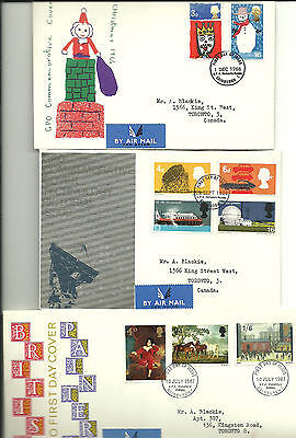 Great Britain FDC incl Christmas, Technology & Paintings Circa 1966/67
