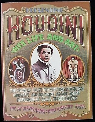 HOUDINI, HIS LIFE and ART (Signed THREE Times) - SoftBound