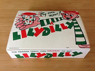 Vintage 1950's - 60's LILY DILLY Frozen Treat Box - Ice Pops