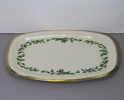 """One Holiday Rectangular Tray 9 7/8"""" - Lenox Made in USA"""
