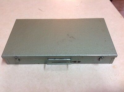 Vintage 35 MM Green Slide Tray Metal Brumburger File Storage Box