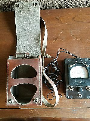 .Vintage KS-8455 L2 Bell System Ohm Test Meter Insulated w / leather case