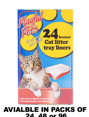 Cat Litter Tray Liners - Easy Pet Waste Disposal In Hygienic Way 25 Bags 1 Pack