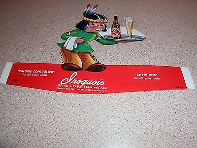 Iroquois Beer Stand Up Advertising Mint Condition
