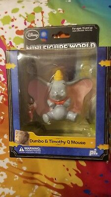 NEW Authentic US Disney Mini Figure World Dumbo & Timothy Q Mouse