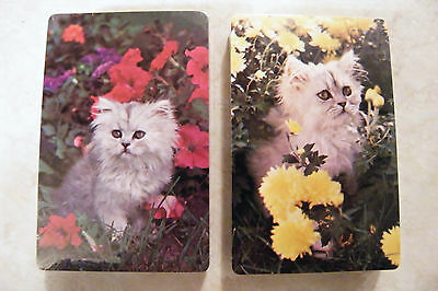 2 Decks of Playing Cards KITTY CATS KITTENS by TRUMP Vintage Sealed NEW