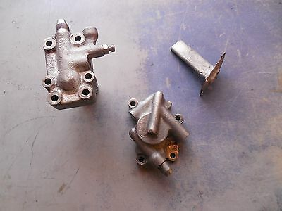 Harley Davidson Oem Flathead Oil Pumps & Breather Pipe 1937-1973 Very Usable  !