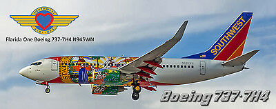 Southwest Airlines Boeing 737 Photo Magnet (PMT1544)