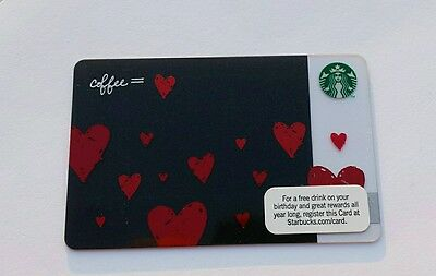 2011 Starbucks VALENTINE Red Floating Hearts Gift Card. New, unswiped.