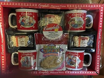 Vintage Campbell's Harvest Time Collection of 4 Soup Mugs