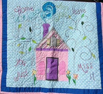 Handmade Quilt Wall Hanging Missing Home