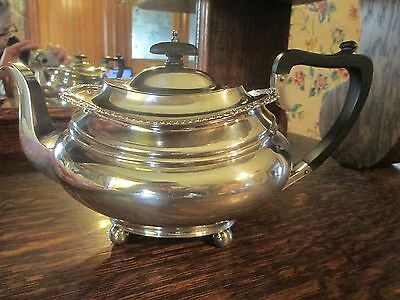 1909 Barker Brothers Edwardian Sterling teapot, Chester mark 722 grams,NICE