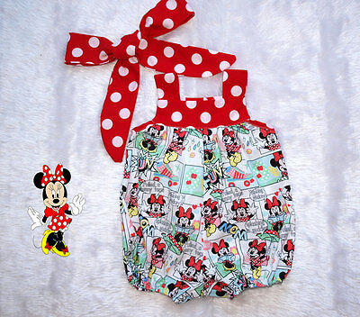 Baby Girls Romper, Classic Girls Romper size 00,0 and 1,Minnie Mouse,Smash Cake.
