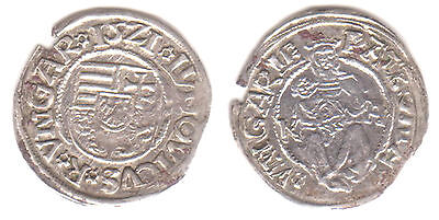 HUNGARY - Louis II (1516-1526) Silver Denar dated 1521 - BEAUTIFUL COIN!