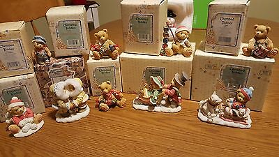 Lot Of 9 Christmas Cherished Teddies- EITHER NEW OR MIB-WONDERFUL SELECTION!