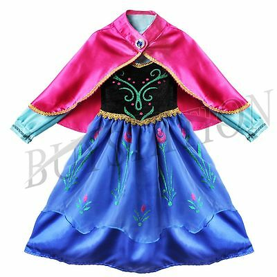 Girls Princess Fairy Halloween Costume Outfits Party Fancy Dress Up Cos Clothes